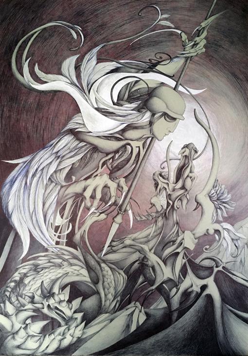 Saint Michel terrassant le dragon, patricia cronier zohar