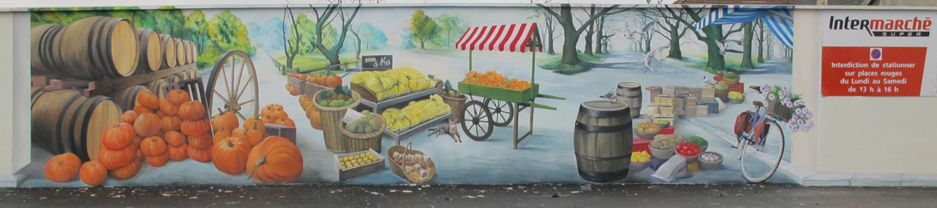 parking du marché et de l'intermarché de la ville de Neuilly-Plaisance